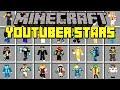 Minecraft YOUTUBER STARS MOD!   MEET DANTDM, POPULARMMOS, PEWDIEPIE, & MORE!   Modded Mini-Game