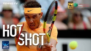 Hot Shot: Nadal Hits Jaw-Dropping Backhand Pass In Rome 2018 Final