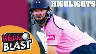 Sterling Shines In London Derby | Middlesex v Surrey | Vitality Blast 2018 - Highlights