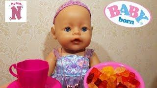 Кукла Беби Бон громко плачет Магия и волшебство для детей Настя кормит куклу Baby Born