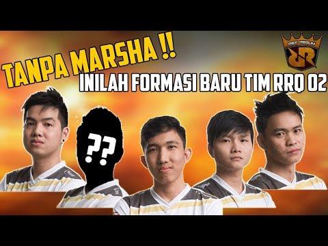 TANPA MARSHA !! INILAH FORMASI BARU TIM RRQ 02(Lemon DKK) Mobile Legends - Pro Squad Mobile Legends