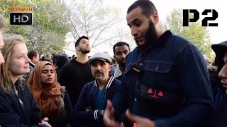 الجزء الثاني مسلم محمد حجاب يناقش زوار مشككين حول الإجهاض وقيمة الحياة. ركن الخطباء، هايد بارك لندن