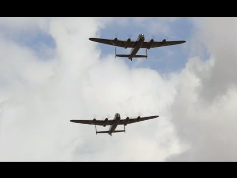 Two Lancaster Bombers fly together for first time in 50 years