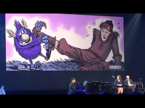 Robert Lopez and Kristen-Anderson Lopez perform two unused Troll demo songs from Frozen at D23 2015