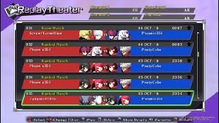 BLAZBLUE CROSS TAG BATTLE Just some Replays