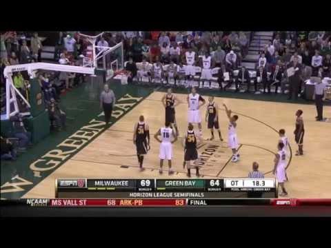 Aaron Jordan - Wisconsin Milwaukee vs Green Bay