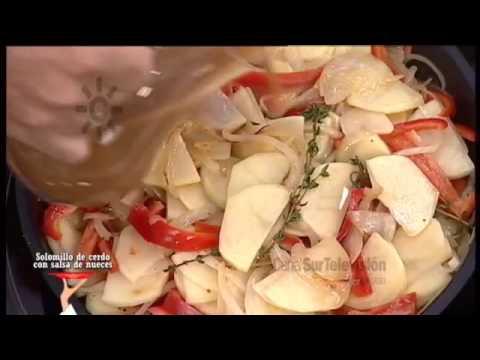 Receta: solomillo de cerdo con salsa de nueces