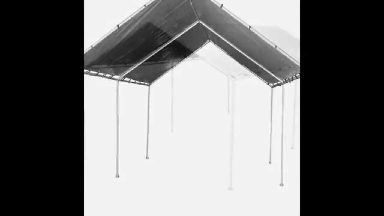 & 12x20 Heavy Duty Silver Canopy Tarp From BJC Products - YouTube