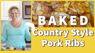 How to Bake Country Style Pork Ribs with Sweet Potatoes  |  Pork Recipe | Easy Pork Recipes