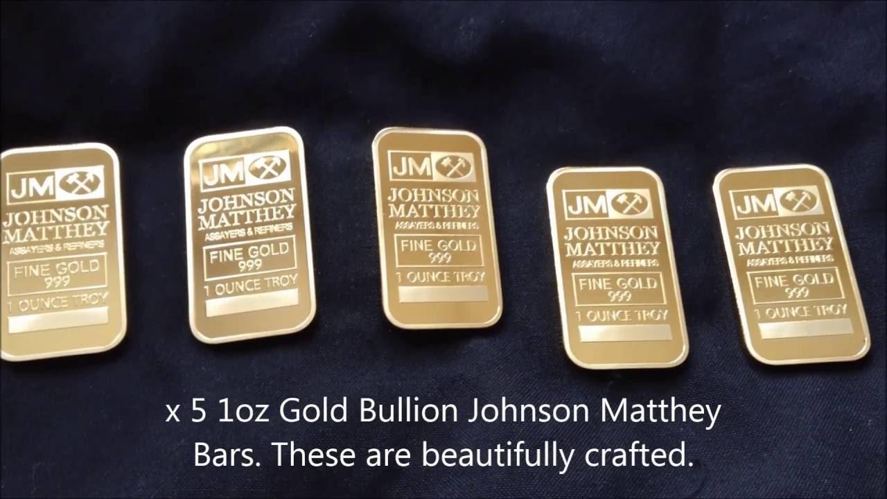 Johnson Matthey Gold Bar August 2019