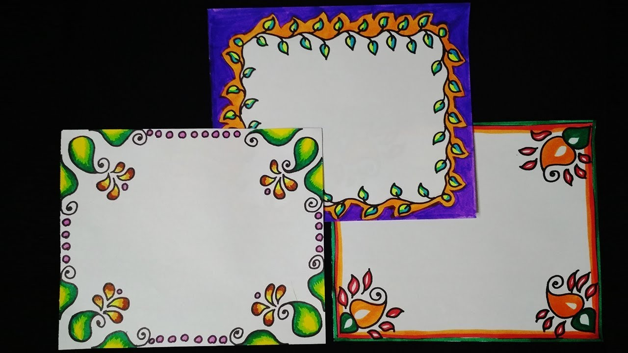 3rd attractive and simple border design for project