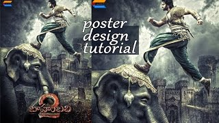 Make Bahubali 2 Movie Poster Design Photoshop Tutorial | Creative Innovation