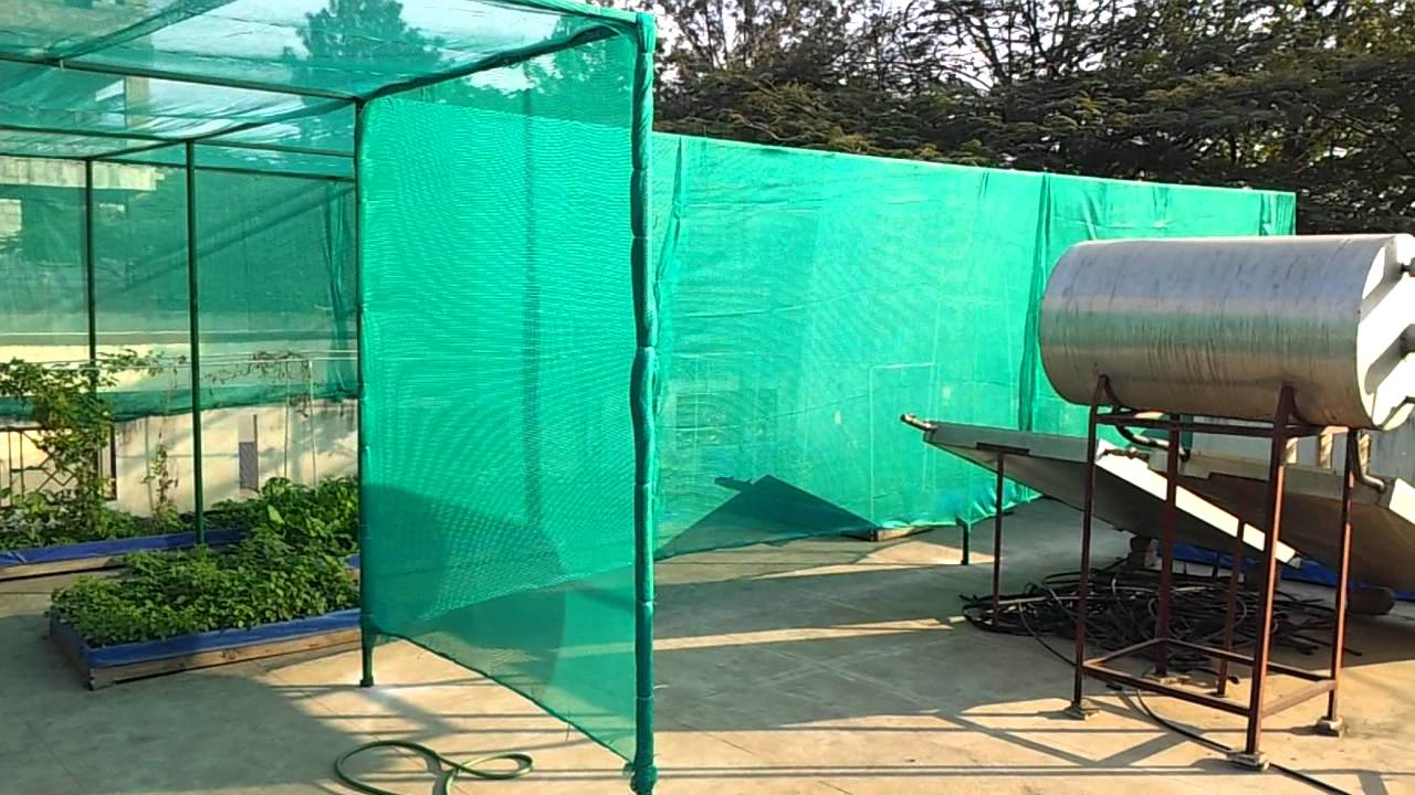 Terrace Organic Garden With Shade Net Youtube
