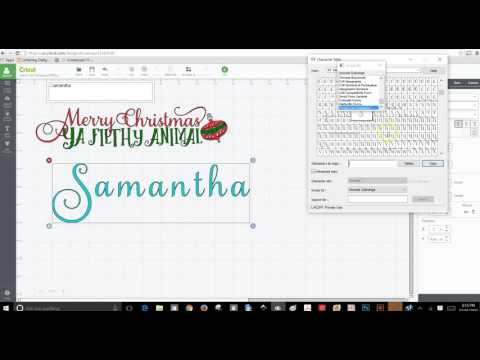 How to use Samantha Font in Design Space/BabelMap/CharacterMap - Cricut Design Space