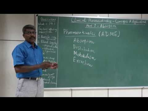Clinical Pharmacokinetics: Concepts & Application: Part 1 Absorption