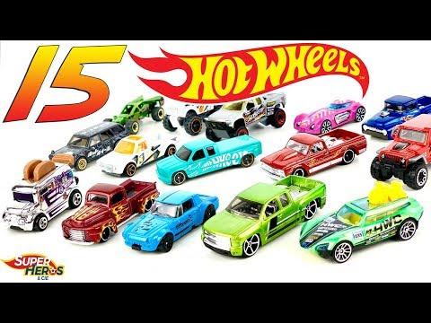 Jouvre 15 Voitures Hot Wheels Pickup Hotrod Diecast Collection Jouet Youtube Kids Mattel