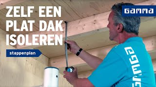 Plat dak van binnenuit isoleren | GAMMA