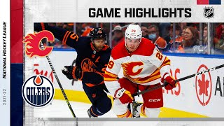 Flames @ Oilers 10/16/2021 | NHL Highlights