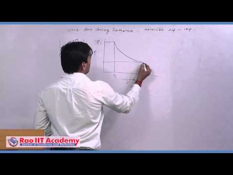Thermodynamics Process and Work Done in Isothermal Process - IIT JEE Chemistry Video Lecture
