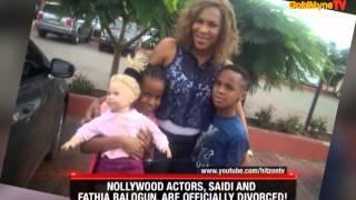 GOLDMYNETV NOLLYWOOD ACTORS SAIDI AND FATHIA BALOGUN ARE OFFICIALLY DIVOURCED