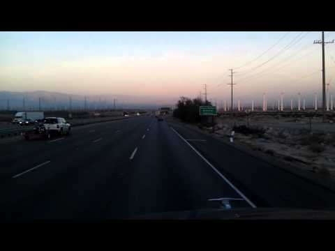 Interstate 10 East near Palm Springs (?) California