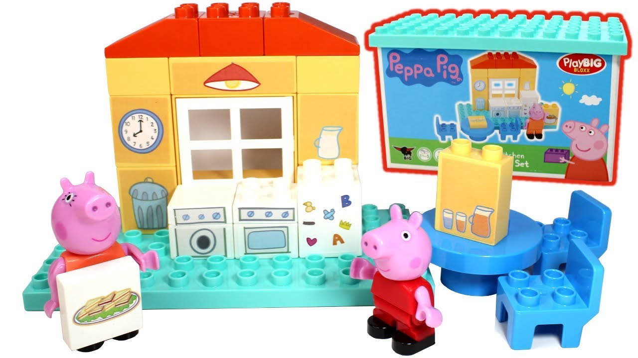 Peppa Pig Blocks Mummy Pig S Kitchen Playset Playbig Bloxx Toys Peppa Pig Play Doh Learn Colors