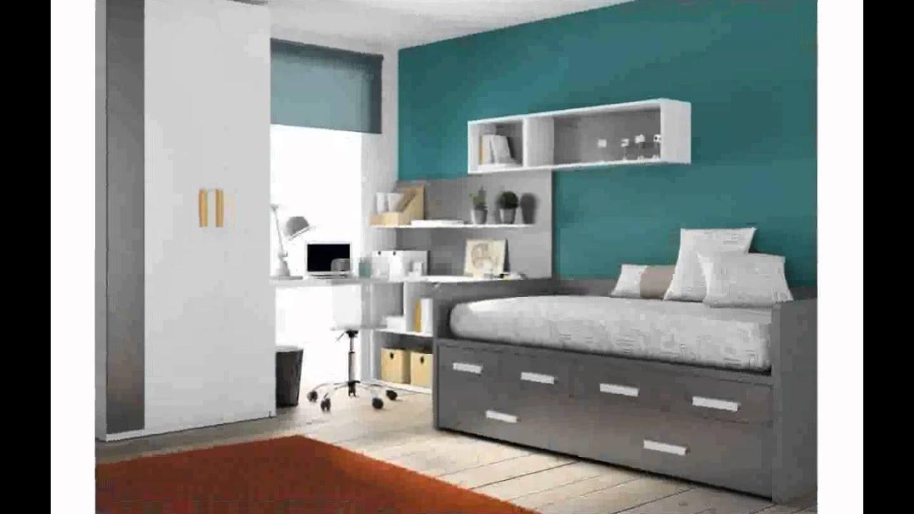 Habitacion dise o juvenil youtube for Disenos de paredes para dormitorios