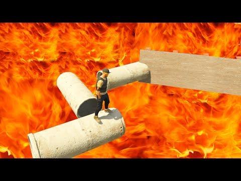 GTA 5 Online Parkour - FIRE PARKOUR! - #237