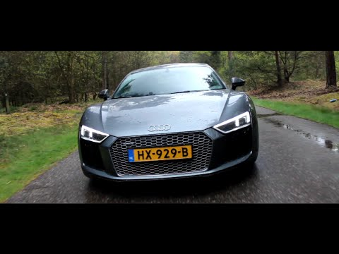 2016 Audi R8 V10 Plus Review | Hartvoorautos.nl | English Subtitled