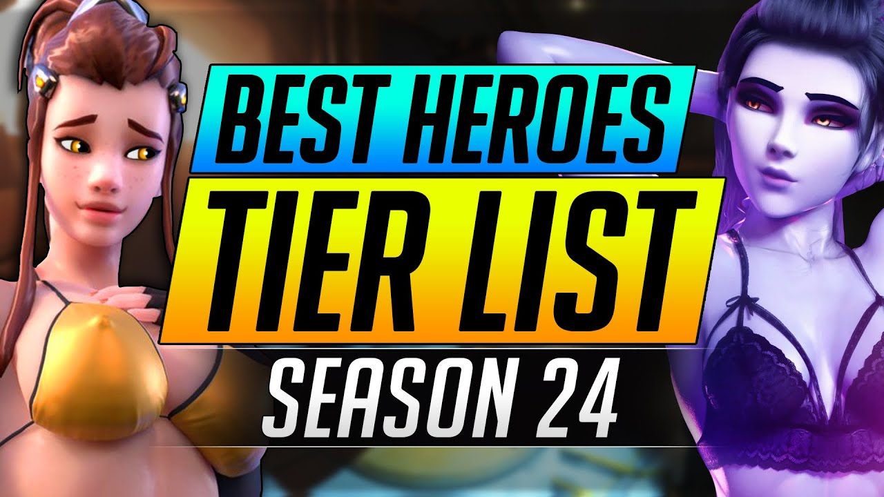 NEW Season 24 Heroes Tier List - BEST and WORST DPS/Tank/Support Ranking - Overwatch Tips Guide