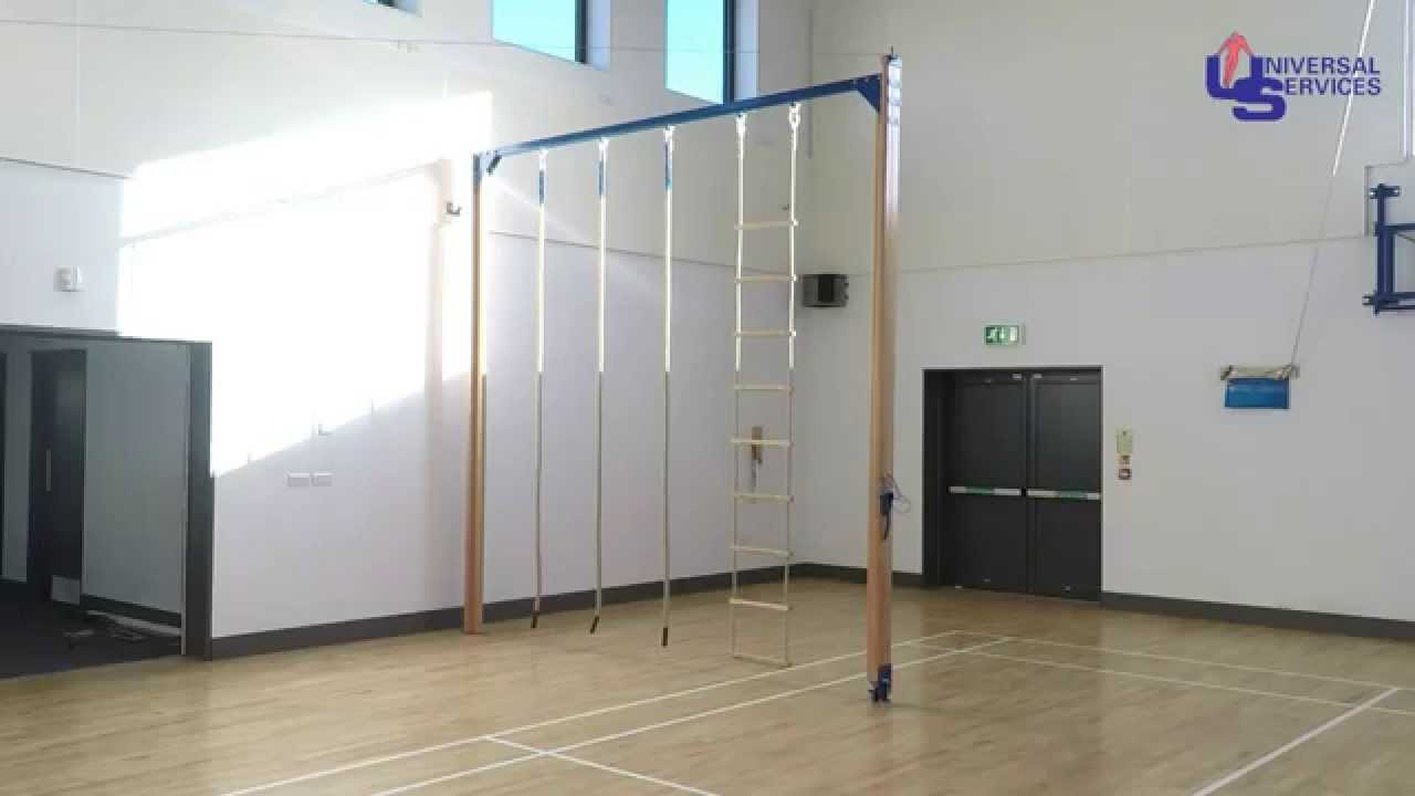 Rope climbing frame indoor - YouTube