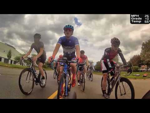 HD 2017 Road Bicycle Racing - REAR CAMERA Criterium Race (Trainer/Rollers)