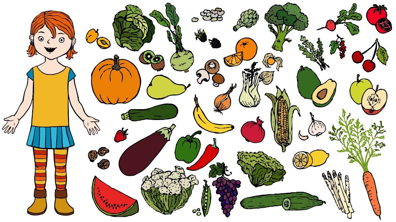 Top Obst oder Gemüse? | Deutsch lernen für Kinder - YouTube XF07