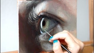 Oil Painting Time Lapse | Realistic Eye + about my art show
