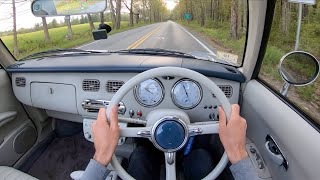 1991 Nissan Figaro - POV Test Drive by Tedward (Binaural Audio)