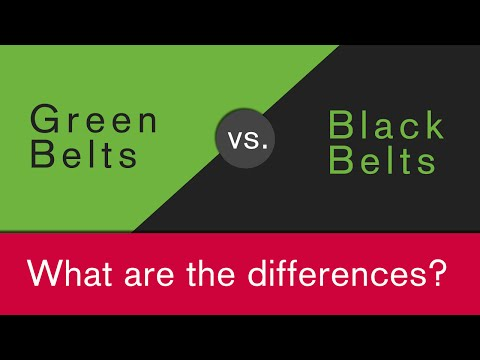 What is the difference between Green Belt and Black Belt?