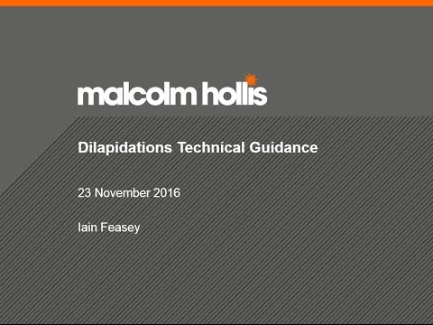 Dilapidations Technical Guidance - 23 November 2016