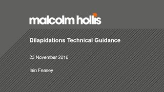 Dilapidations Technical Guidance - 23 November 2016