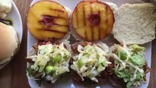 Juicy and tender Peach Pulled Pork Sliders