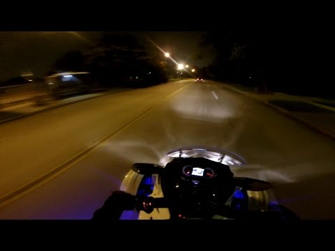 Gopro Can Am Spyder ST Night Ride (1080p)