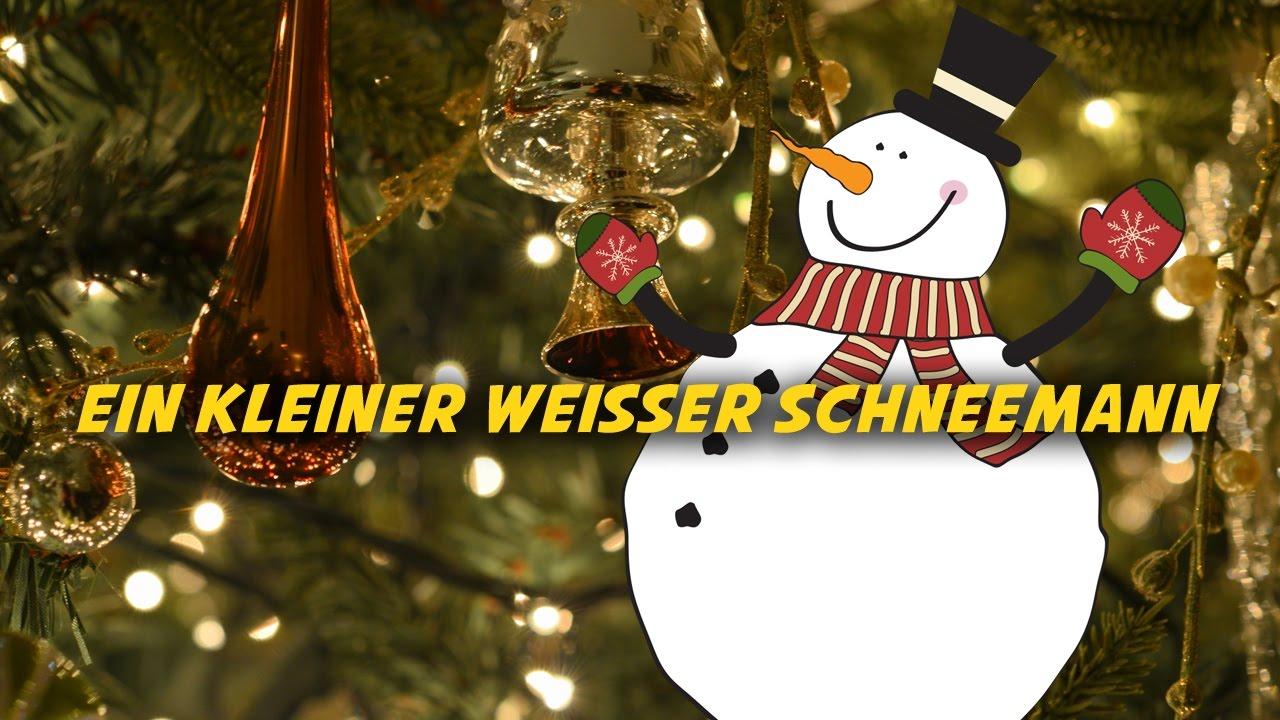 ein kleiner wei er schneemann deutsche weihnachtslieder. Black Bedroom Furniture Sets. Home Design Ideas