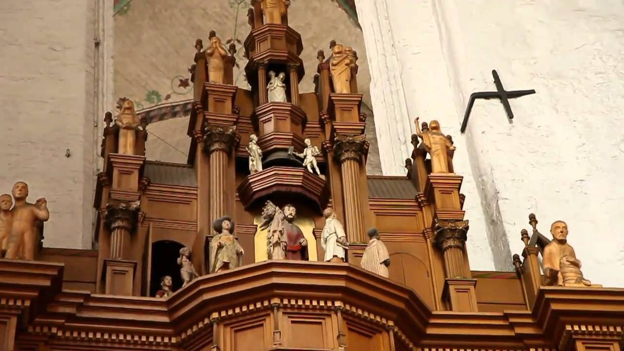 clock in marienkirche l beck youtube. Black Bedroom Furniture Sets. Home Design Ideas