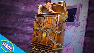 We Made a Giant Puzzle Cabinet and Locked Grambo Inside!!