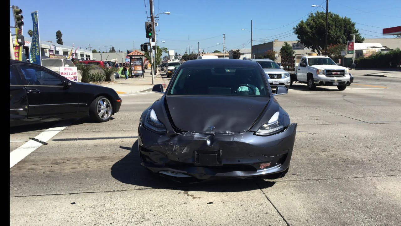 Tesla Model 3 Deemed A Write Off After Slamming Into