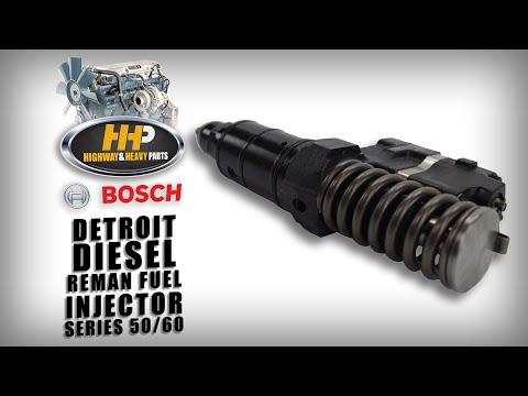 Bosch Detroit Diesel Fuel Injector, Reman, Series 50 & Series 60, Fuel Injection System