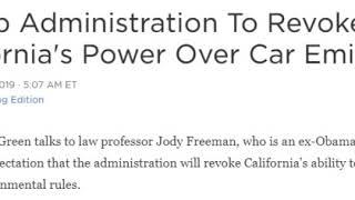 Trump Revoke California control Car Emissions
