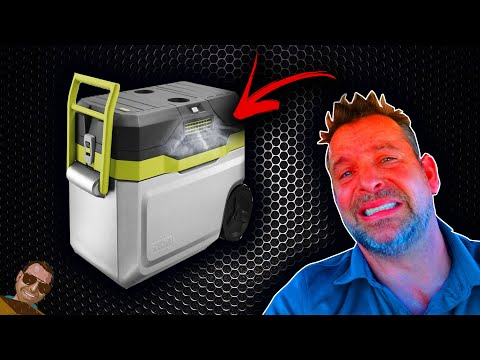 Ryobi Cooling Cooler inside a 145 Degree Car!  Does it work?