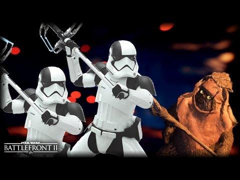 Star Wars Battlefront 2 HUNTING EWOKS – Funny Gameplay Moments (Attacking Ewoks!)