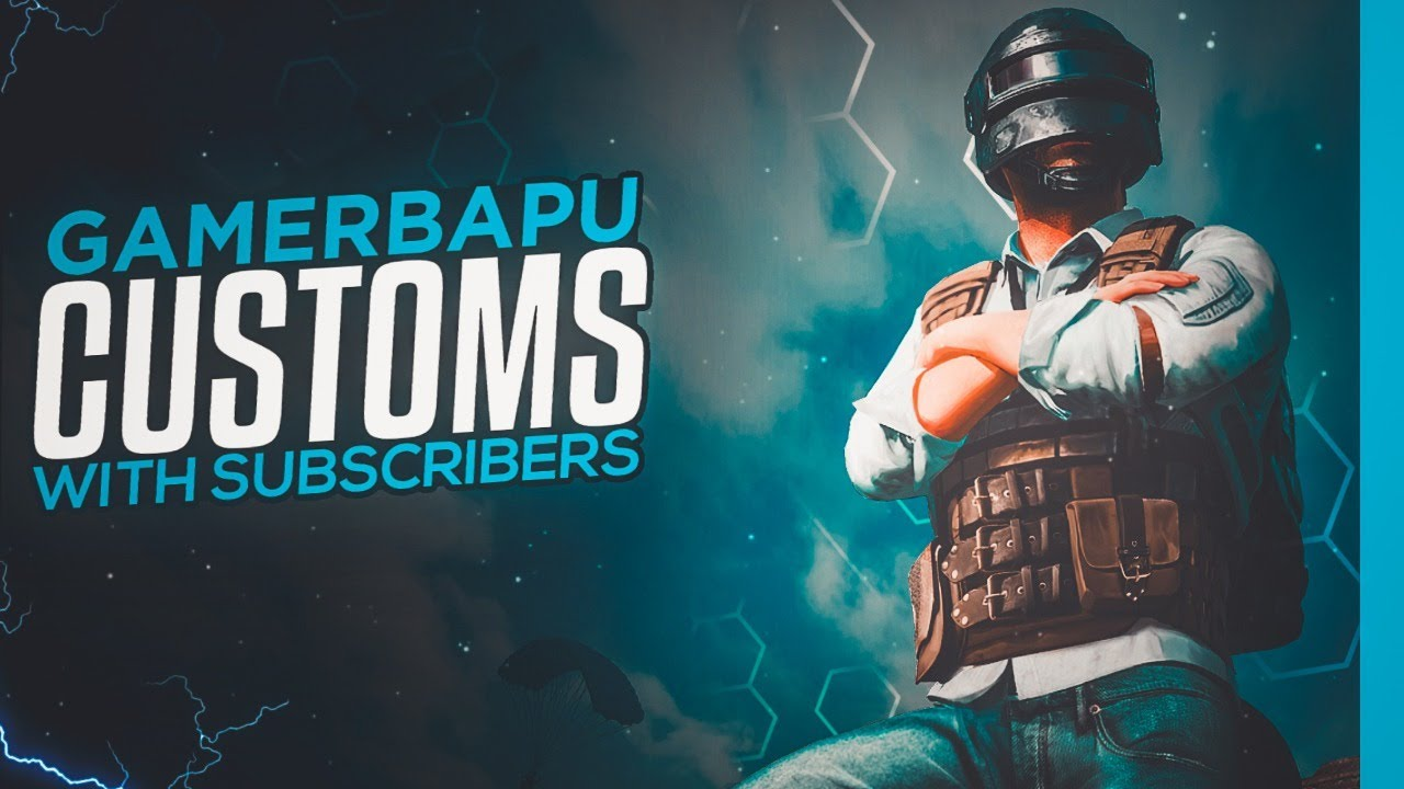 Custom With Subs | JOIN Discord Link in the Description |#Gamerbapu |#pubgmobile |