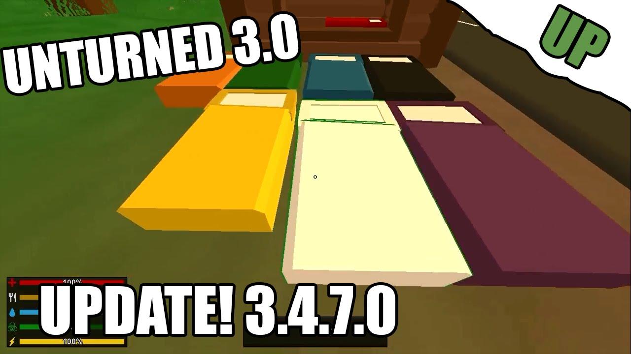 Unturned 3 4 7 0 update beds vault door barracade for Door unturned